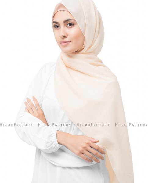 Nude - Puder Bomull Voile Hijab 5TB31a