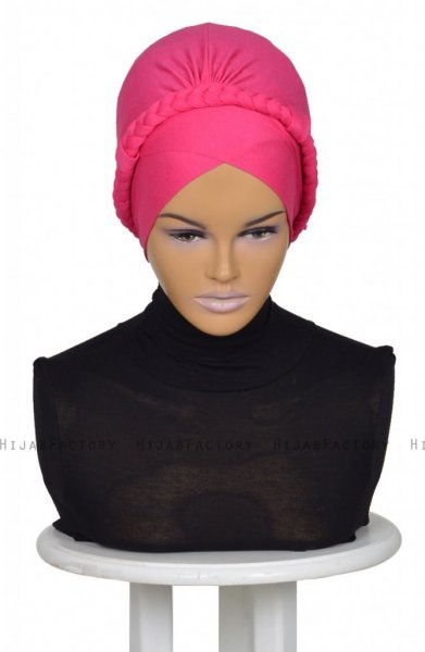 Olivia Fuchsia Bomull Turban Cancer Krebs Ayse Turban 3210010-1