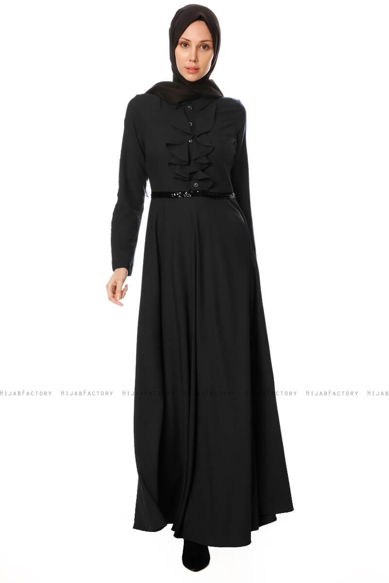 53130191a811 Yussra - Svart Klänning - Burun - Hijabfactory.se
